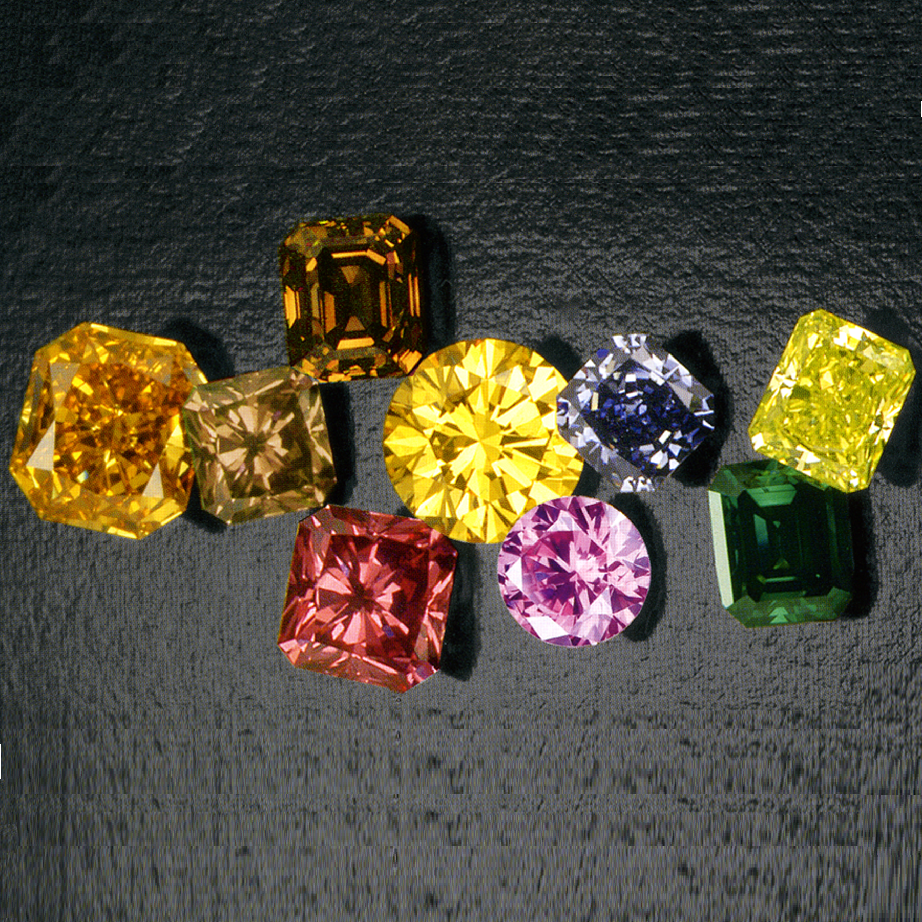 Natural Loose Fancy Color Diamonds with Fancy Shapes ...